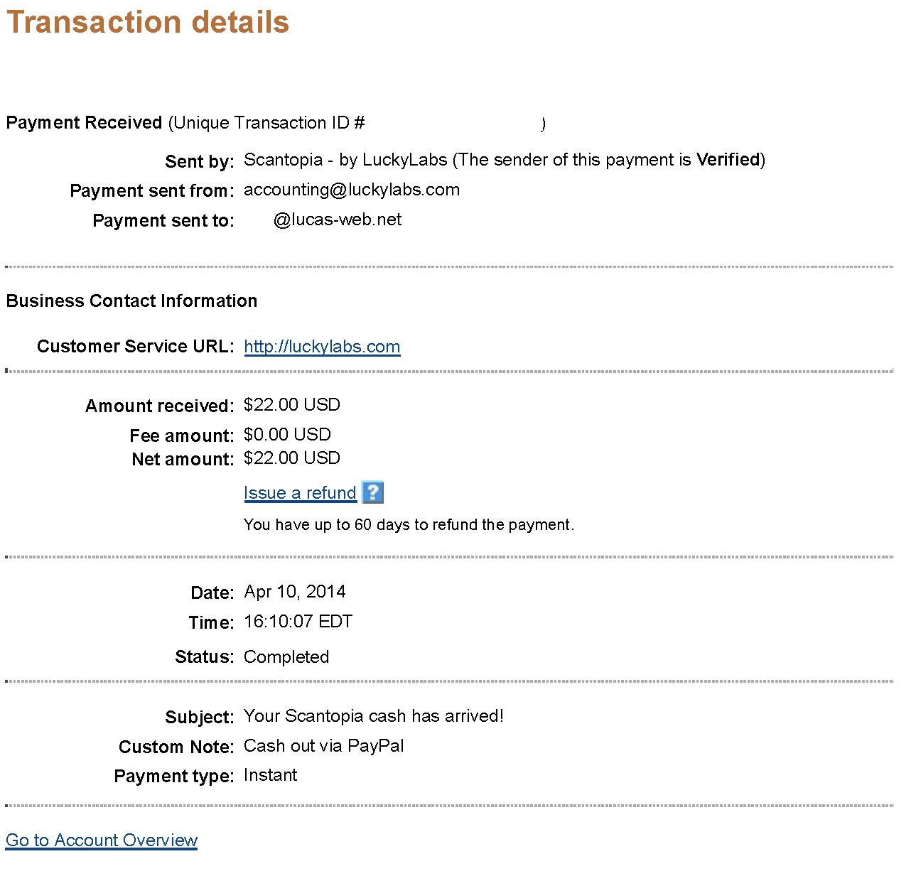 $22.00 - Scantopia - April 10, 2014