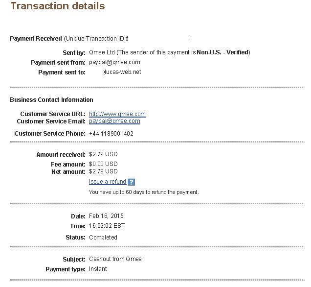 $2.79 - Qmee - February 16, 2015